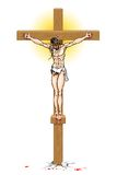 Jesus on Cross Stock Photography