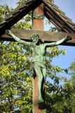 Jesus on a cross Stock Photography
