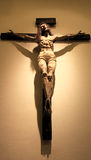 Jesus on the cross. Hanging on a wall in the Cathedral Basilica of St-Francis Royalty Free Stock Photography