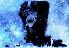Jesus on the cross, avanrgard interpretation with graphic stylization. Winter effect. Jesus on the cross, avanrgard interpretation with graphic stylization Stock Photography