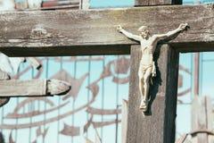 Jesus Cross Cemetery Stock Photography