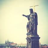 Jesus with cross Royalty Free Stock Photos