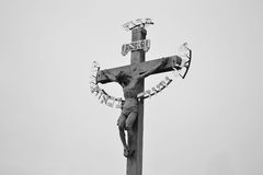 Jesus on the cross Stock Photography