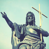 Jesus with cross Stock Images