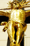 Jesus on the cross gold 2 Stock Photography