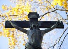 Jesus on the cross. Stock Photos
