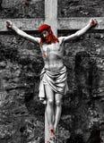 Jesus on cross Stock Image