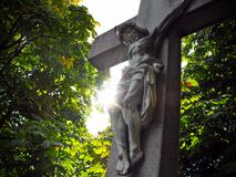Jesus on the cross. Royalty Free Stock Photos