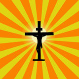 Jesus Cross Sunburst Stock Photography