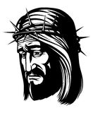 Jesus with crown of thorns Royalty Free Stock Images