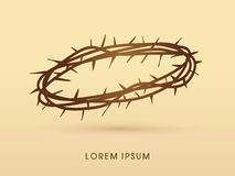 Jesus crown of thorns Royalty Free Stock Images