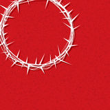 Jesus Crown of Thorns Illustration. An illustration of a crown of thorns worn by Jesus Christ over a texture red background. Vector EPS 10 available Stock Illustration
