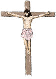 Jesus crucified Royalty Free Stock Photos