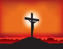 Jesus crucified on the cross Royalty Free Stock Photography