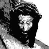 Jesus crucified. Illustration of the face of Jesus crucified Royalty Free Stock Photos