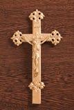 Jesus crucified na cruz imagens de stock