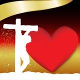 Jesus Crucified a Sexta-feira Santa Fotos de Stock Royalty Free