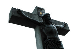 Jesus on crucifix Stock Photos