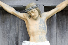 Jesus on crucifix Royalty Free Stock Images