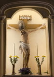 Jesus crucifixion. Church of St. Dominic. Macau. Royalty Free Stock Images