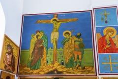 Jesus Crucifixion Frescos Saint George`s Church Madaba Jordan Royalty Free Stock Image