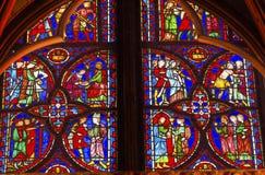 Jesus Crucifixion Stained Glass Sainte Chapelle Paris France fotografia de stock royalty free