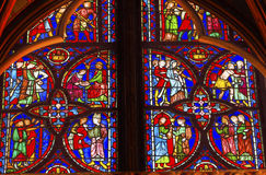 Jesus Crucifixion Stained Glass Sainte Chapelle Paris France Royalty Free Stock Photography