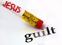 Jesus - culpa Foto de Stock Royalty Free