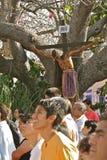 Jesus in de Boom. De Optocht van de Goede Vrijdag, Oaxaca Stock Foto