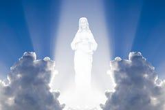 Jesus in de hemel stock illustratie