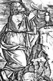 Jesus in de Olijventuin royalty-vrije illustratie