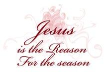 Jesus is de reden voor het seizoen stock illustratie