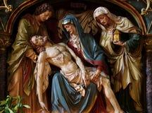 Jesus in de wapens van Mary. Stock Foto