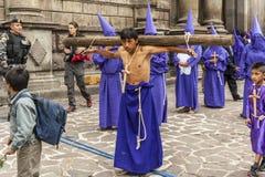 Jesus del Gran Poder religiös procession royaltyfria foton