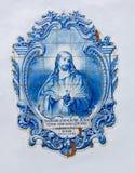 Jesus in den Fliesen Stockfotografie