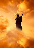 Jesus, der die Methode zeigt Lizenzfreies Stockfoto