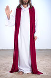Jesus, der Palme der Hand anhebt Stockbild