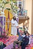 Jesus in der Rose Bowl-Parade Lizenzfreies Stockfoto