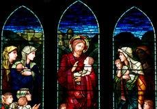 Jesus die een kind zegenen Stock Afbeeldingen