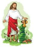 Jesus die een lamémens helen vector illustratie