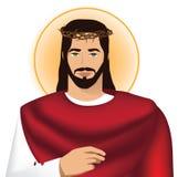 Jesus die kroon van doornen draagt Stock Afbeeldingen