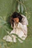 Jesus die in ondraaglijke pijn bidden stock afbeeldingen