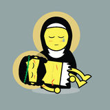 Jesus died on mary's lap. (Vector Stock Photo