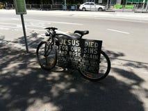 Jesus Died For Our Sins en Rose Again royalty-vrije stock foto