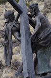 Jesus died for us. One of 15 sculptures at Stations of The Cross On San Pedro Mesa, San Luis Colorado depicting the Passion, Death and Resurrection of Jesus Stock Photography