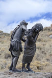 Jesus died for us. One of 15 sculptures at Stations of The Cross On San Pedro Mesa, San Luis Colorado depicting the Passion, Death and Resurrection of Jesus Stock Image
