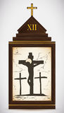 Jesus Dies on the Cross, Vector Illustration Royalty Free Stock Photos