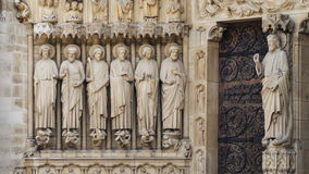 Jesus and disciples at Notre Dame de Paris, France Royalty Free Stock Photo