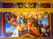 Jesus Doge Angels Painting Palazzo Ducale Doge& x27; palácio Veneza de s mim foto de stock royalty free