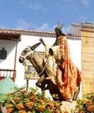 Jesus on donkey Royalty Free Stock Photo